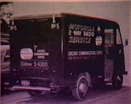 motorola two way radio service truck